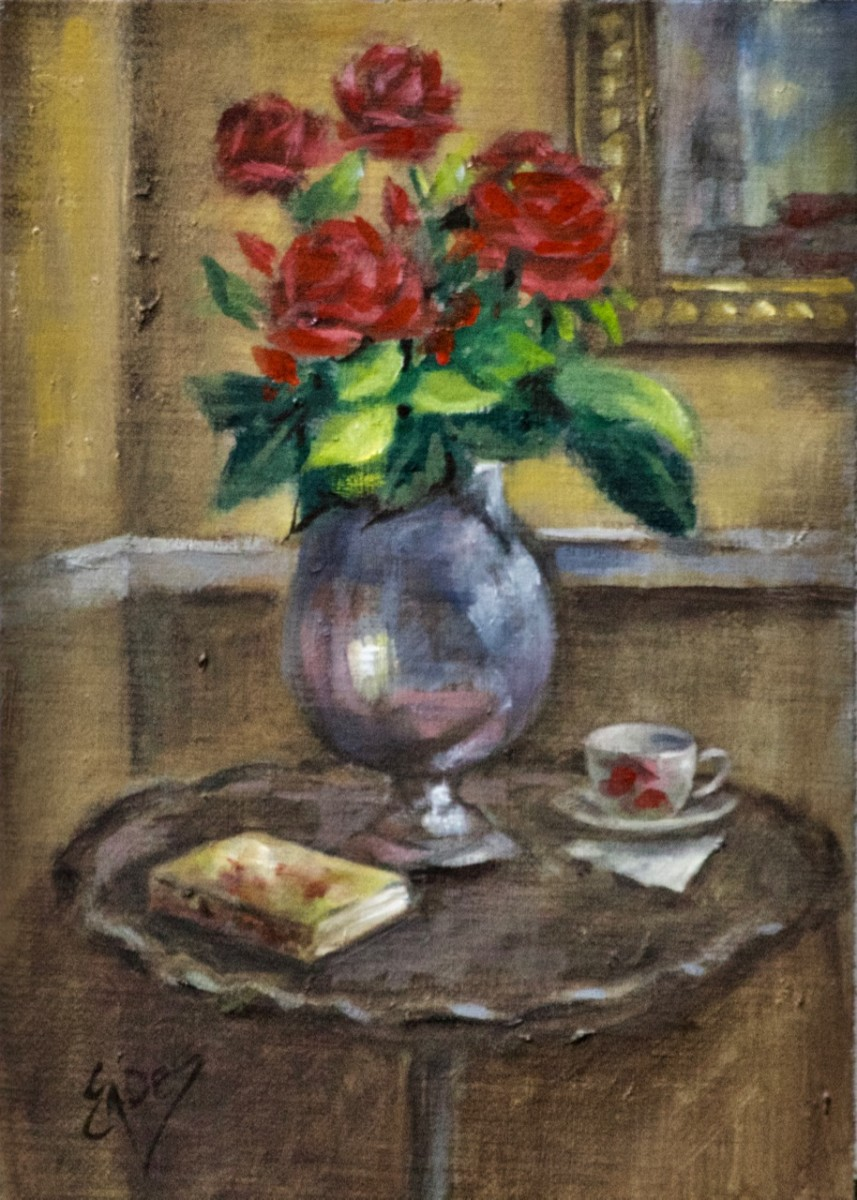Little Pie Crust Table by Linda Eades Blackburn