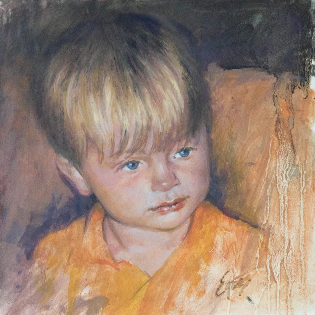 Orange PJ's by Linda Eades Blackburn