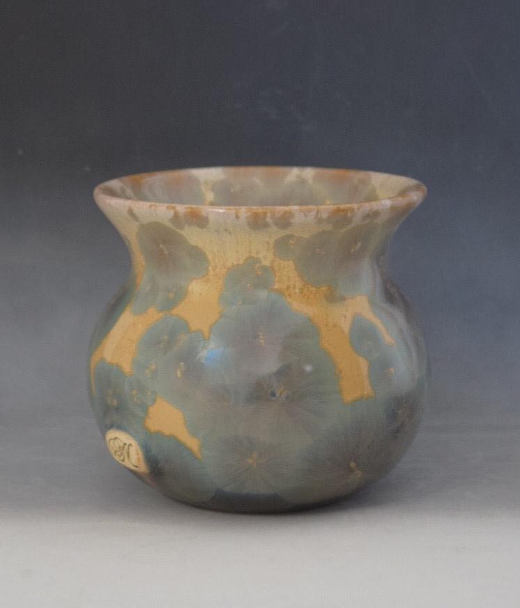 Light Blue Crystal Pot by Nichole Vikdal