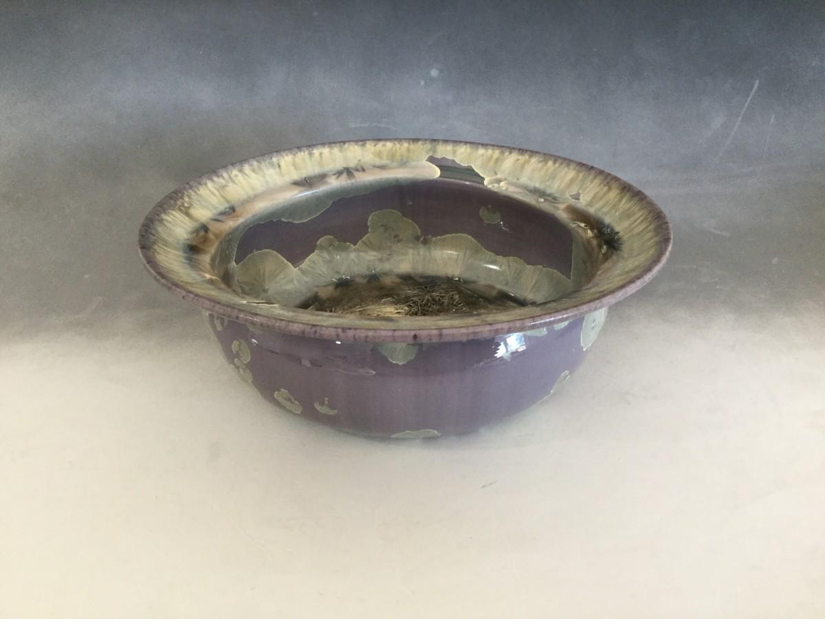 Lavender Crystal Pot