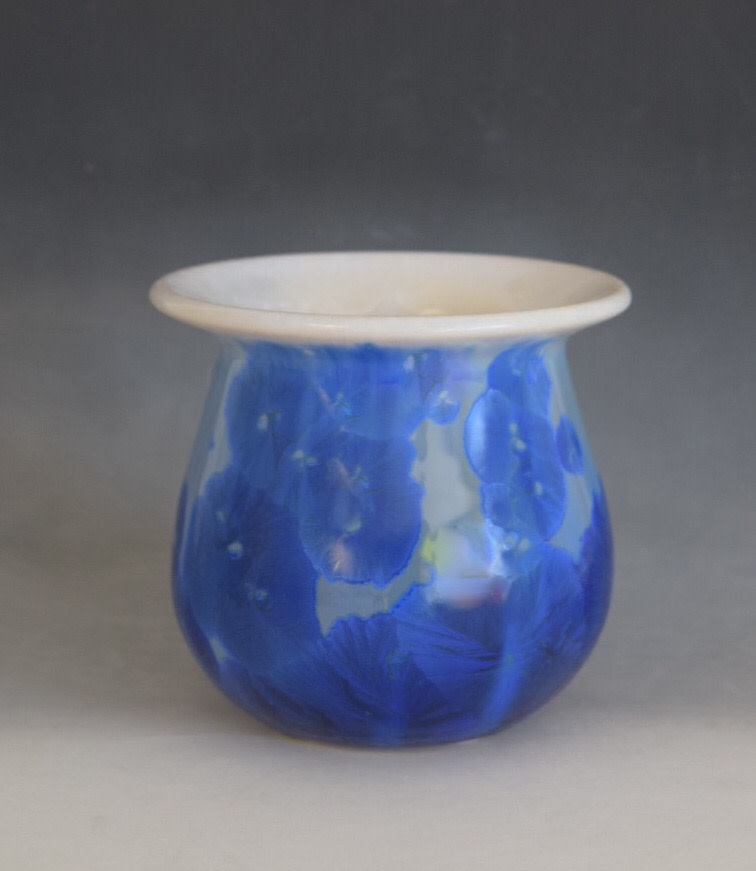 Small Blue with White Pot by Nichole Vikdal