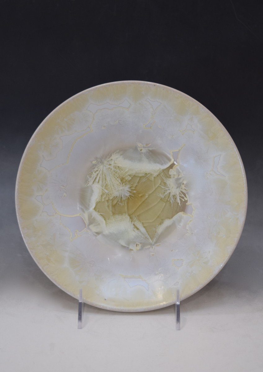 White w/yellow plate by Nichole Vikdal