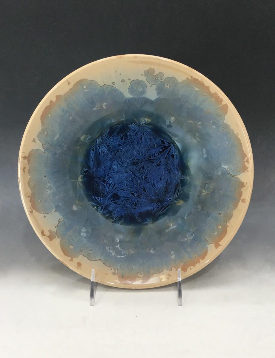 Medium Turquoise w/brown bowl by Nichole Vikdal