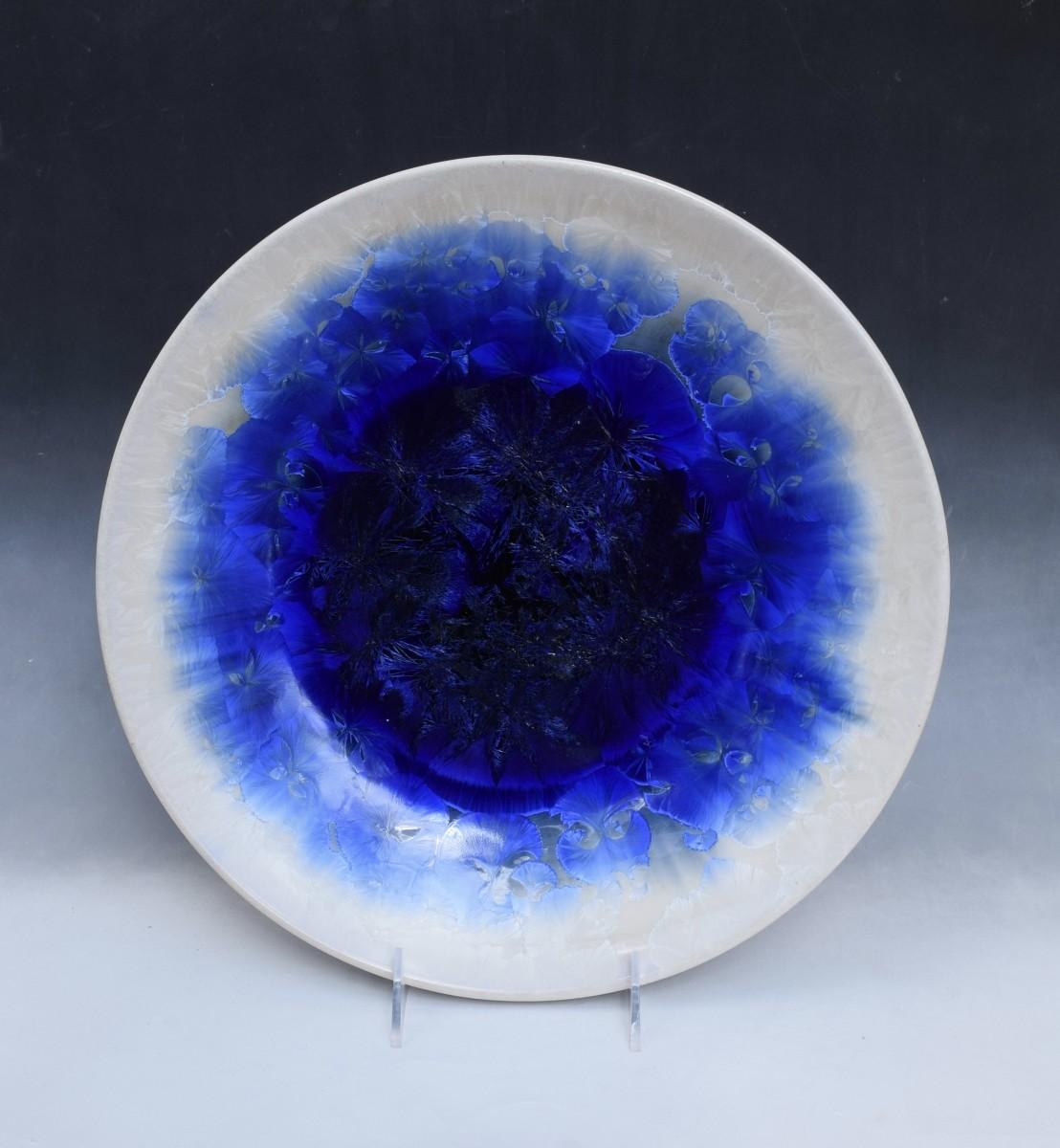 Large Blue w/white Bowl by Nichole Vikdal
