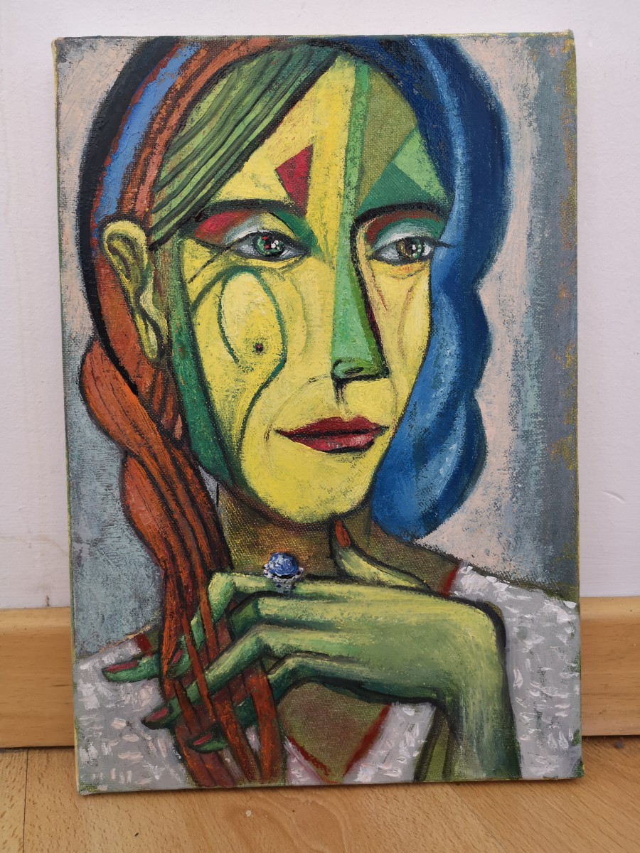 Woman with Blue Ring