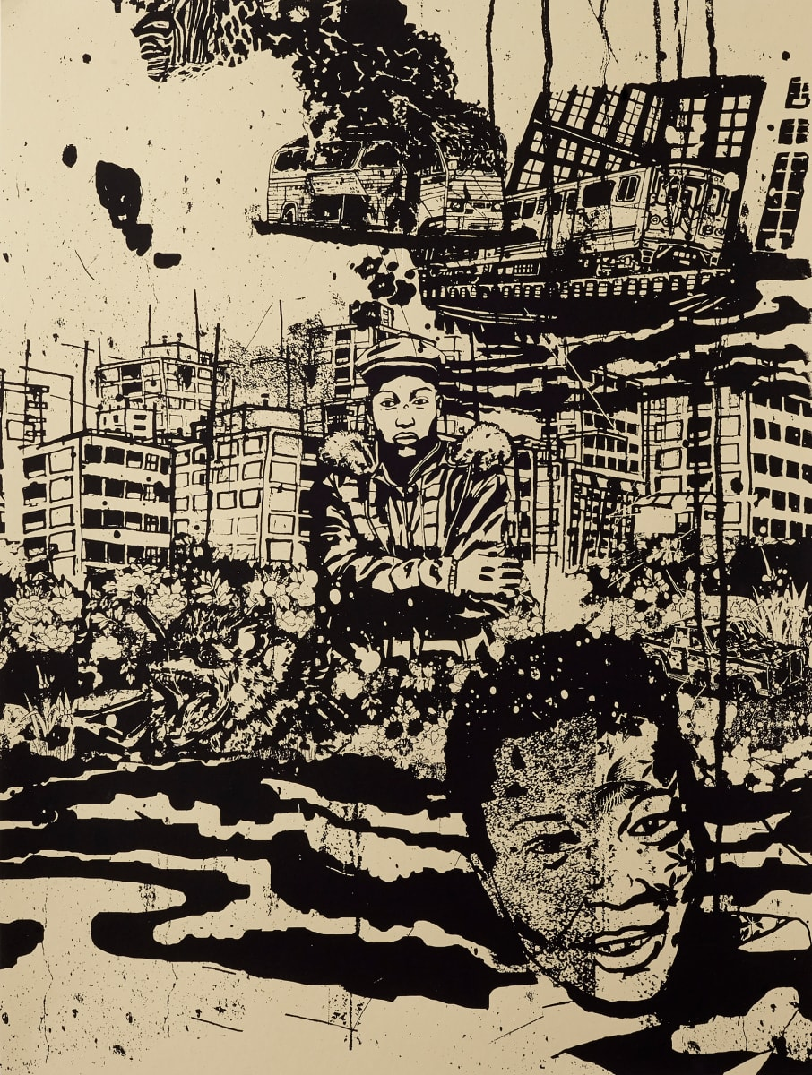 Redraw The Lines In Heavy Black Ink by Damon Locks