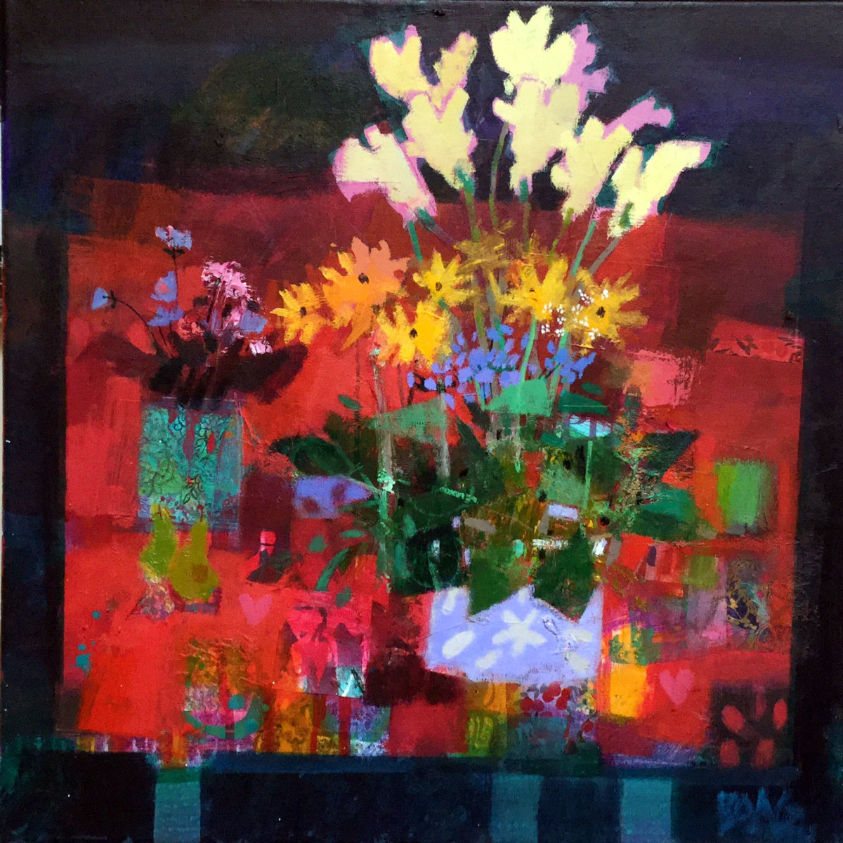 Wild Flowers & pears by francis boag