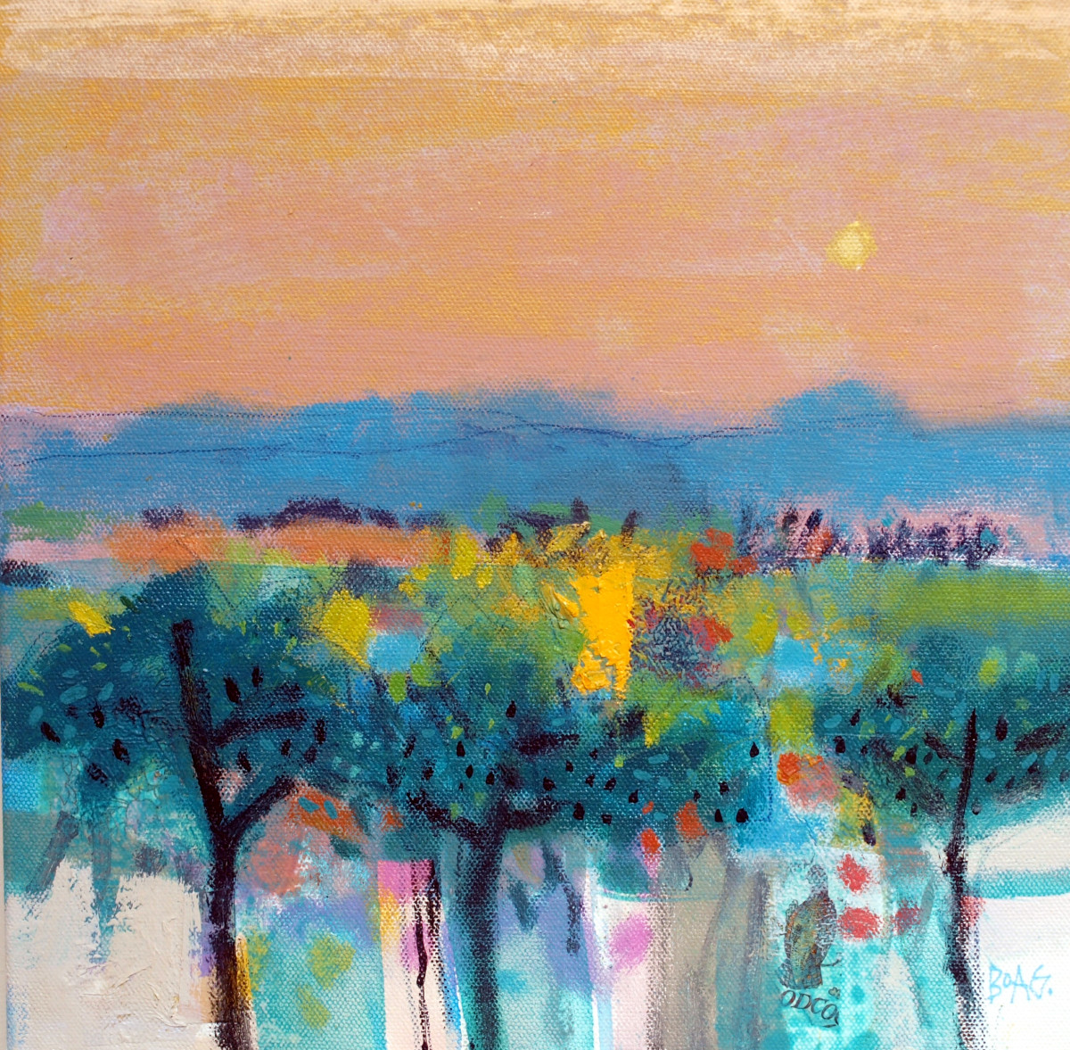 Olive Trees, Istan by francis boag