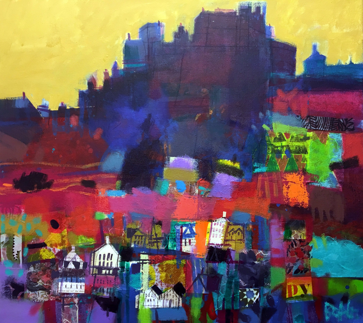Edinburgh Castle rock by francis boag