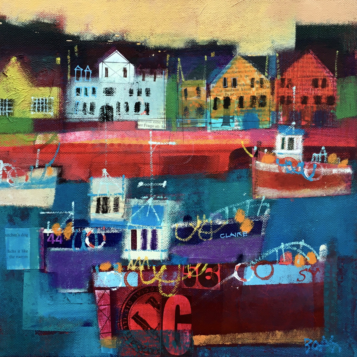 Harbourside Stornoway by francis boag