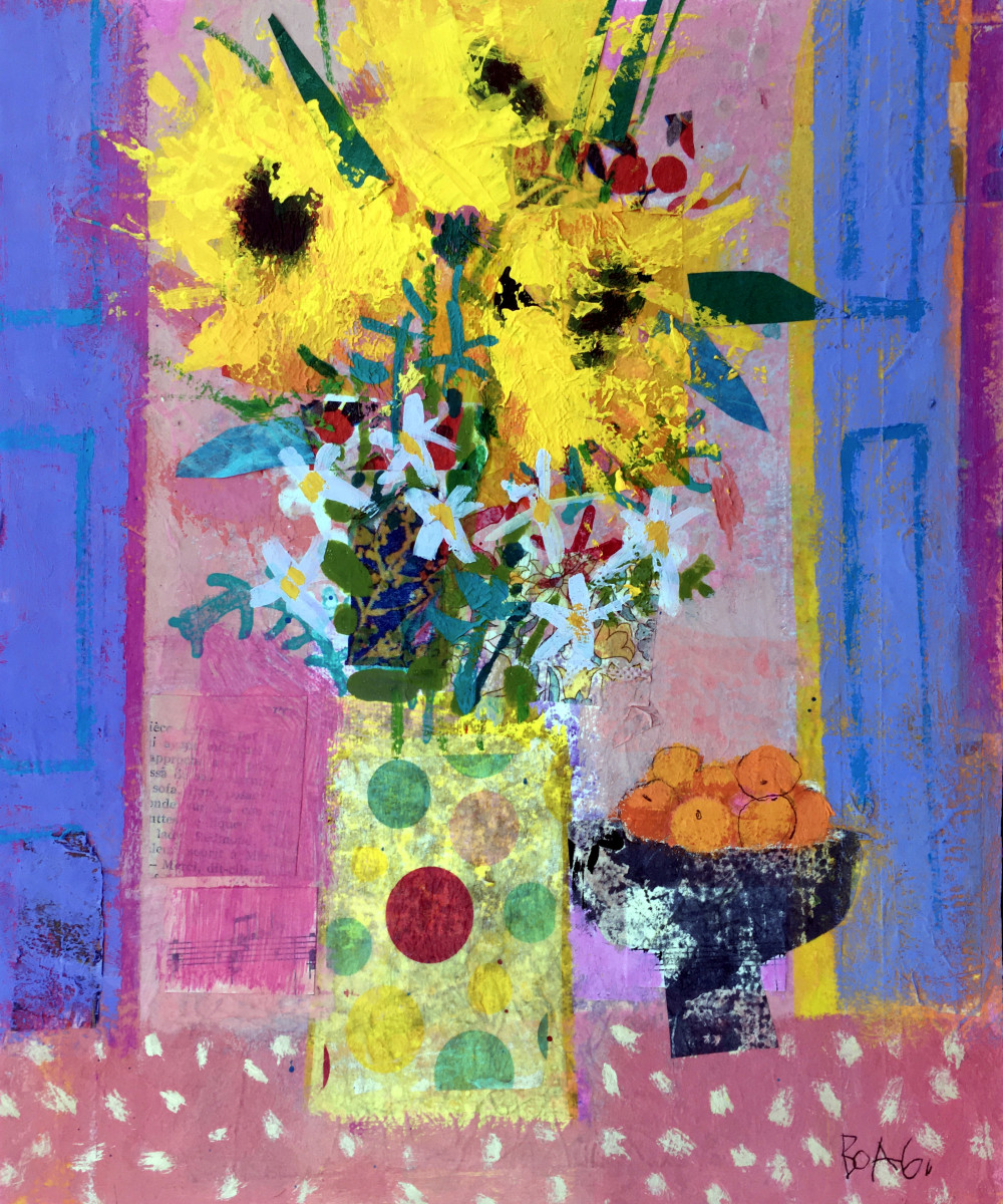Sunflowers and Oranges by francis boag