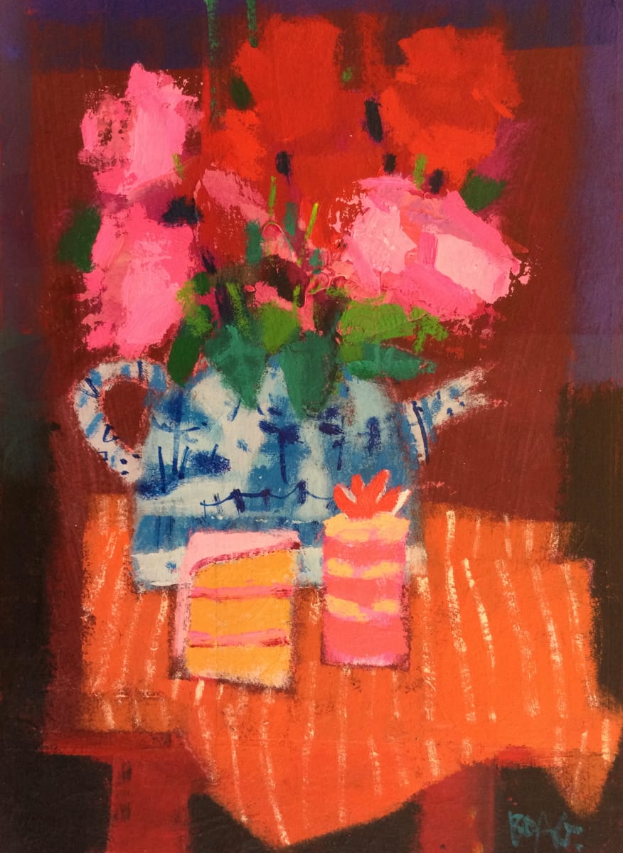 Flowers in teapot by francis boag