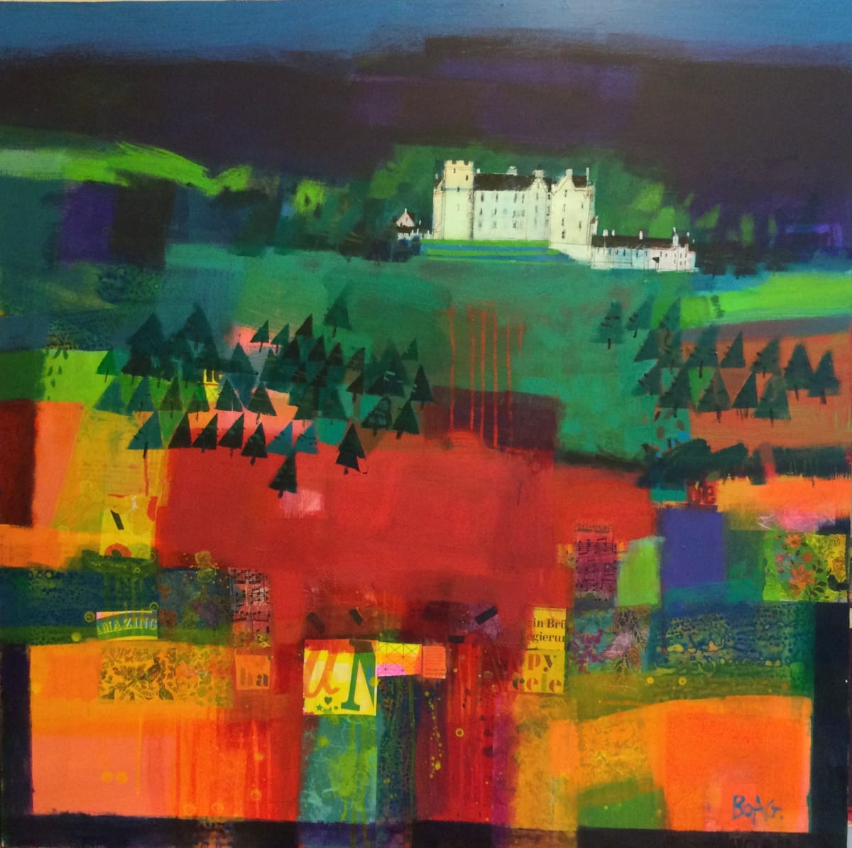Blair Atholl castle by francis boag
