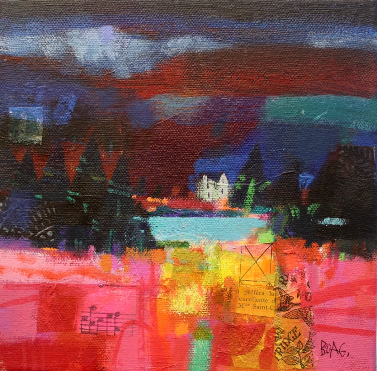 Winter hills, Angus 2 by francis boag