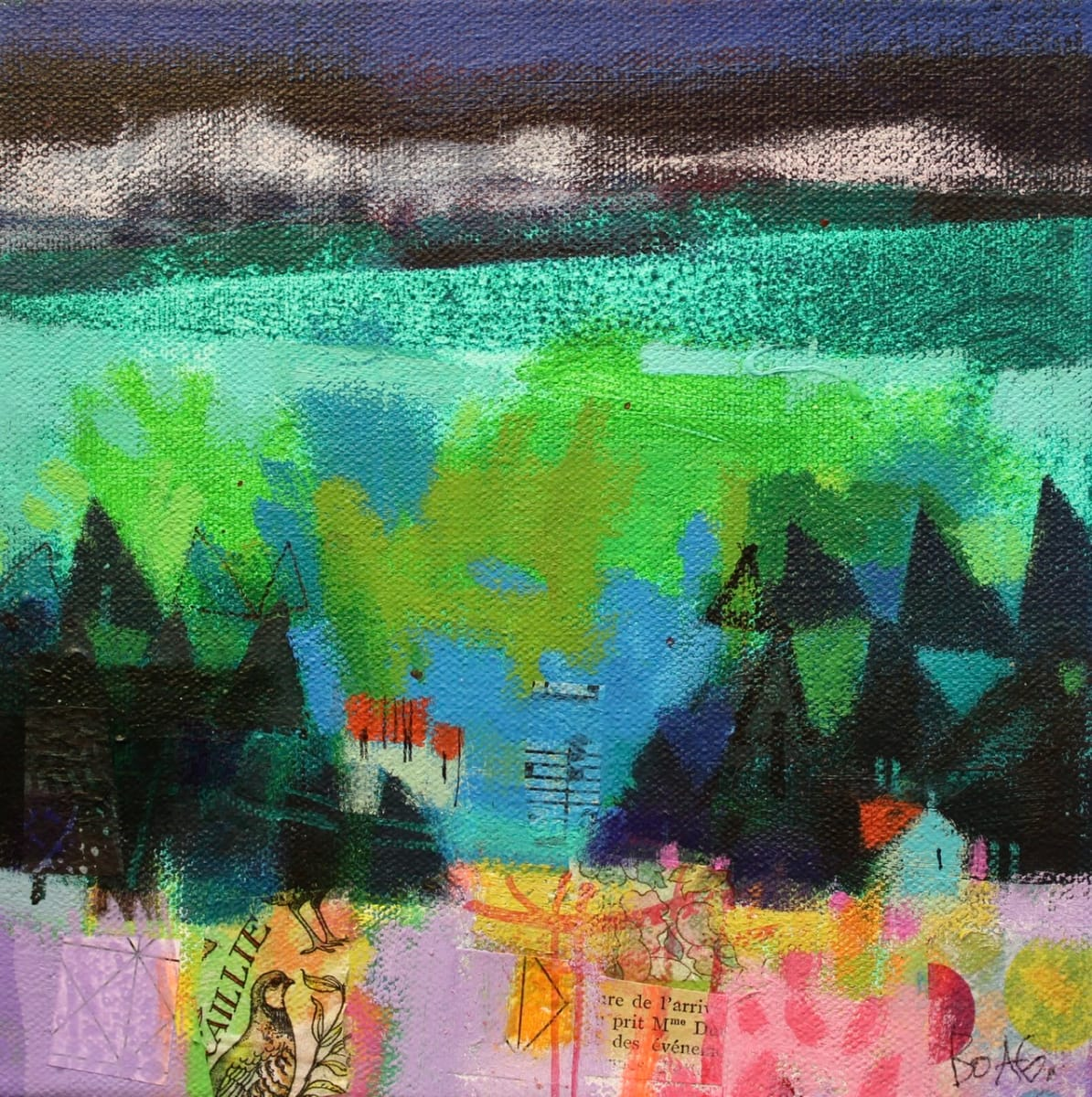 Winter hills, Angus 1 by francis boag