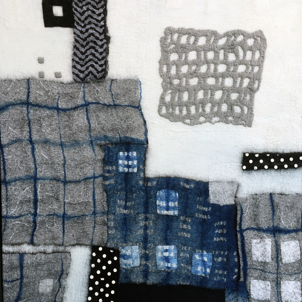 Black and Blue Boroscape IV by Lisa Hinrichs