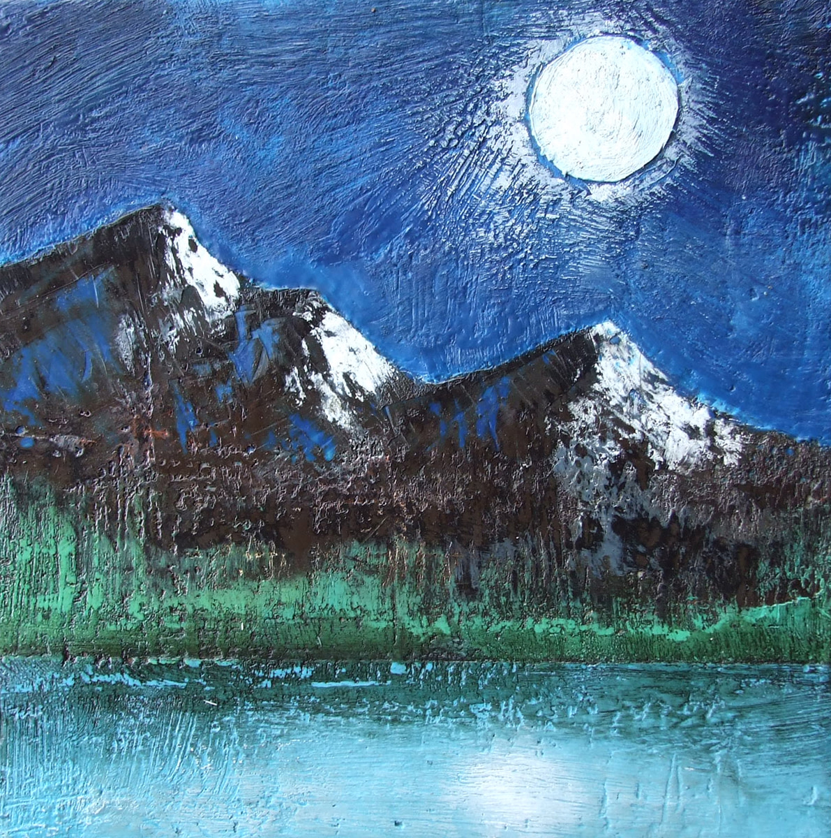 7161ad1892 The Rockies by Moonlight by Susan Wallis | Artwork Archive