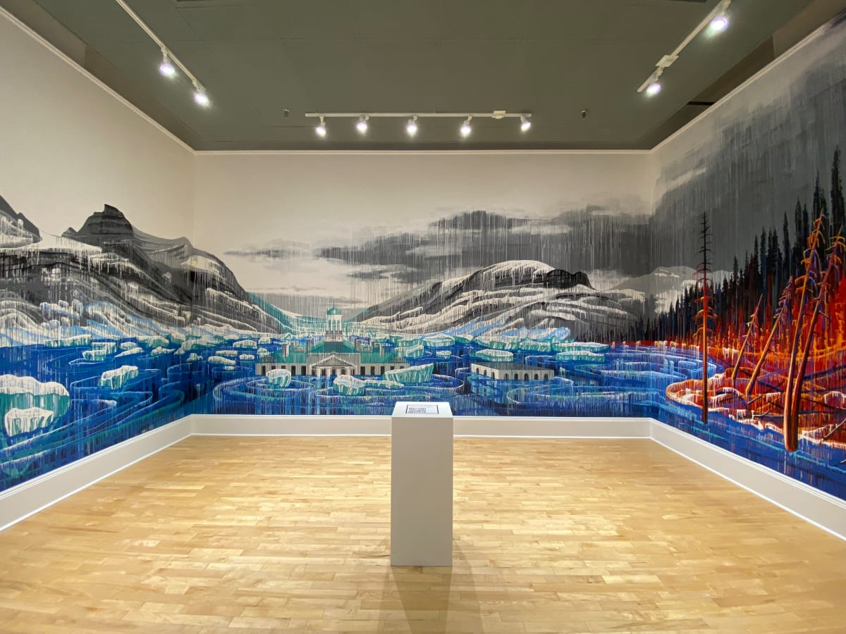 Playing with Fire and Ice Mural by Amy Shackleton