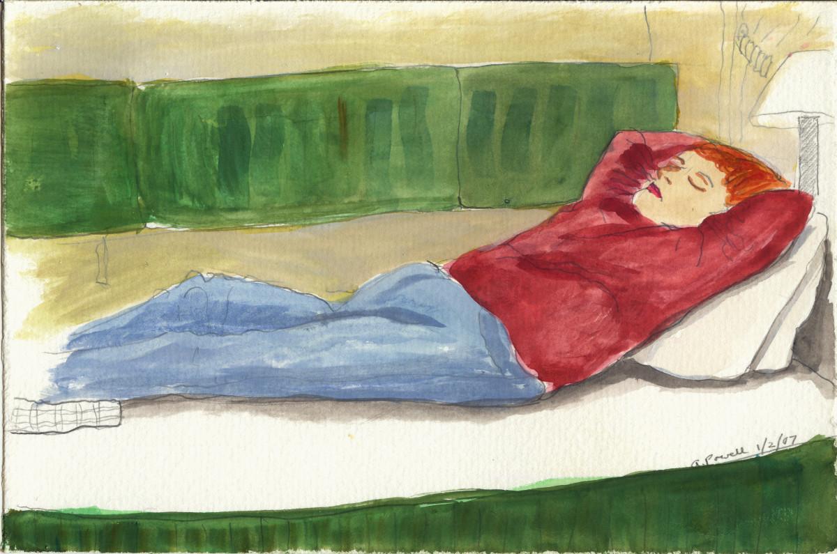 January 2, 2007, Connie Sleeping by Alan Powell