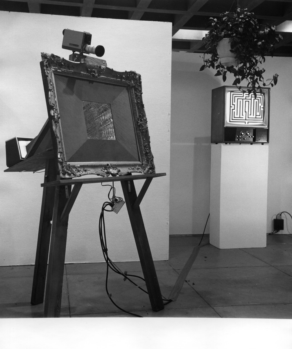 Video Maze videola in picture frame everson Museum of Art 1975 by Alan Powell