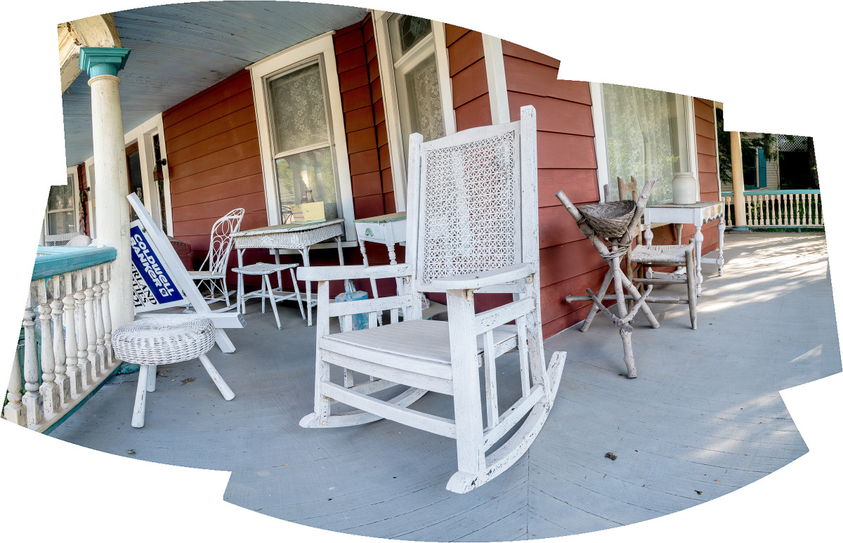 Chairs on a Porch by Alan Powell