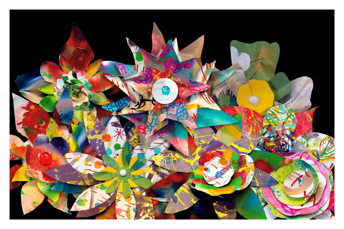 Metal Flower Collage