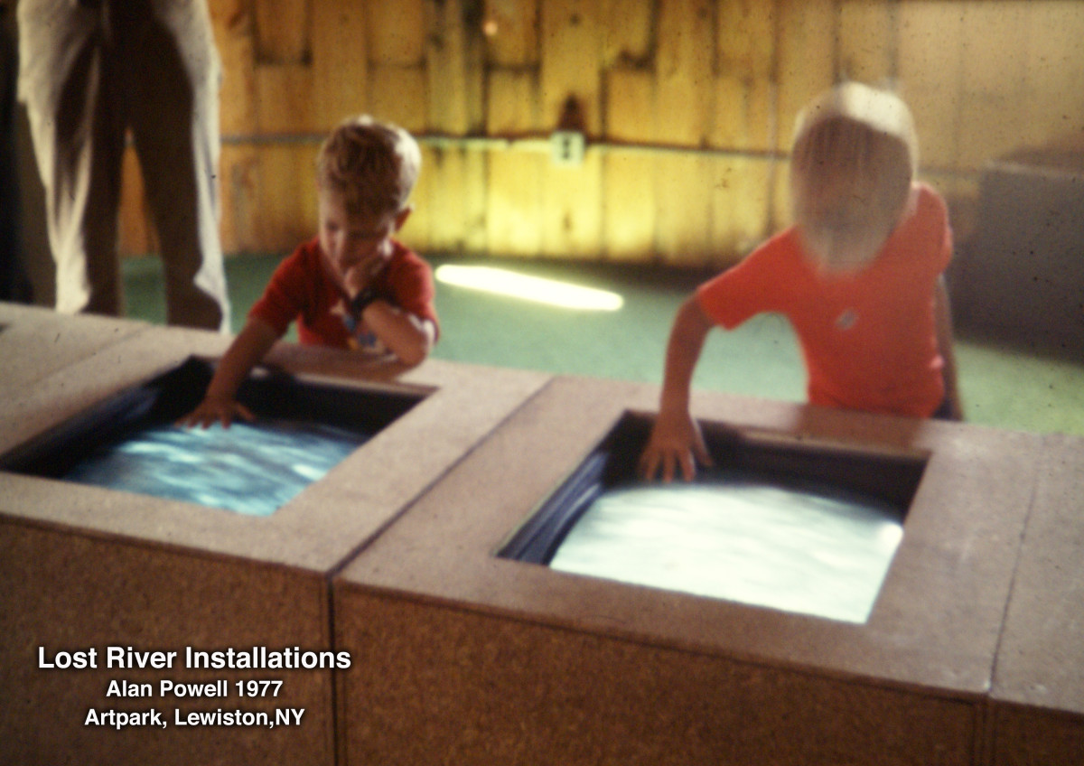 Lost River Installations: Alan Powell, Artpark 1977 by Alan Powell