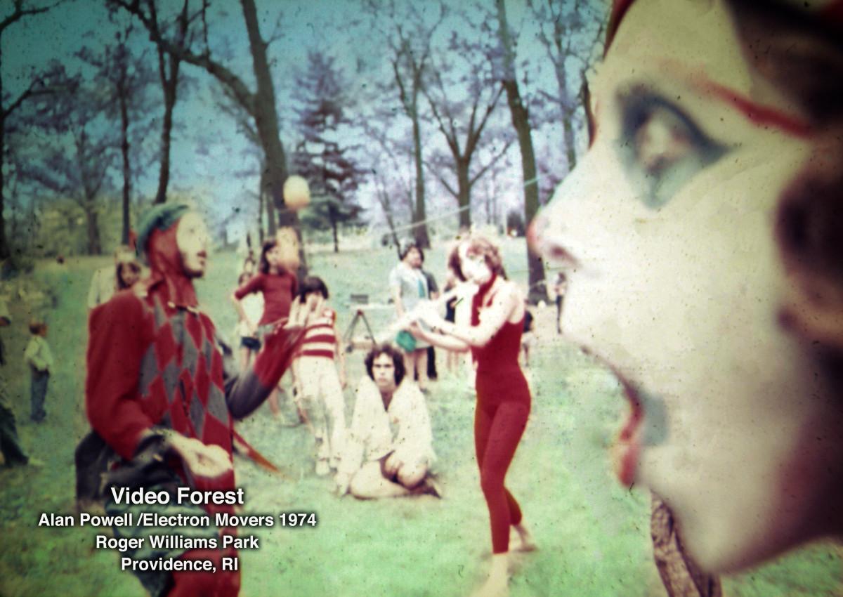 Video Forest 1974 with Alan Powell, Joe Goldman, Barbara Hockfield by Alan Powell