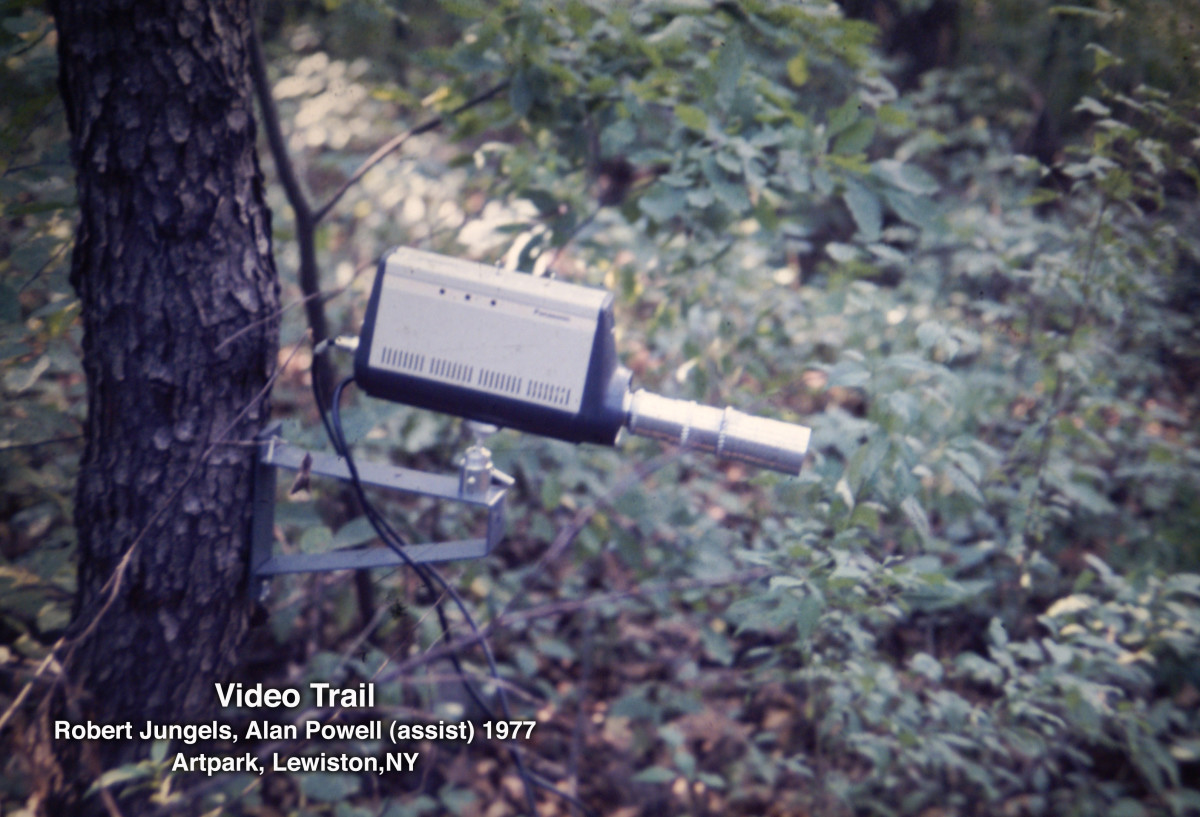 Video Trail by Robert Jungels and Alan Powell, Artpark 1977 by Alan Powell