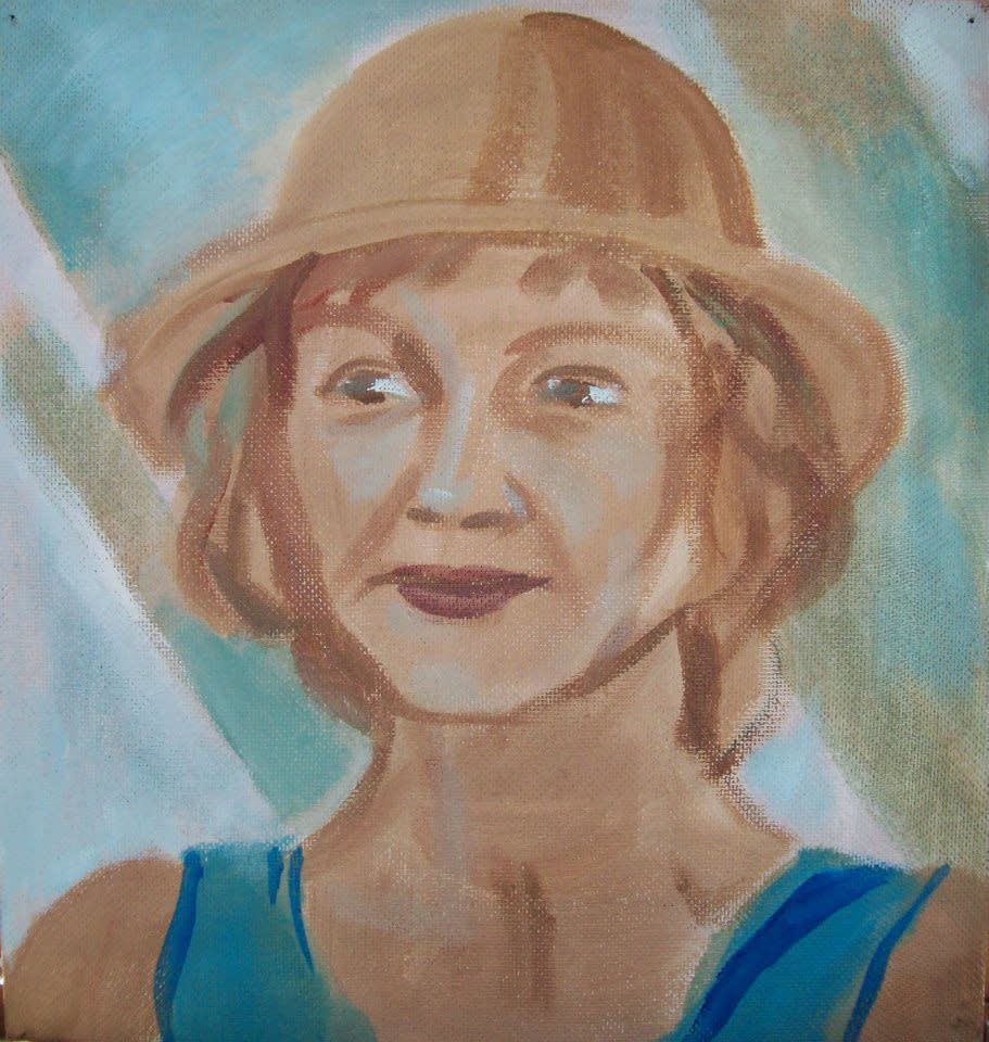 My Mother With A Hat