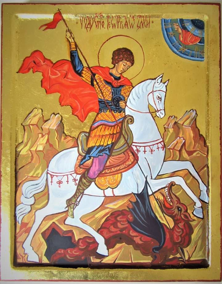 St George' s miracle with the dragon by Gallina Todorova