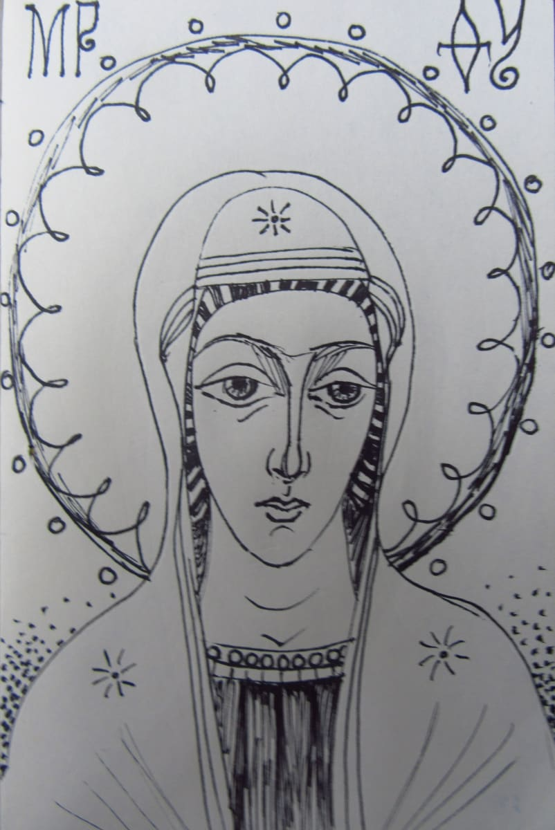 Holy Mother Virgin by Gallina Todorova