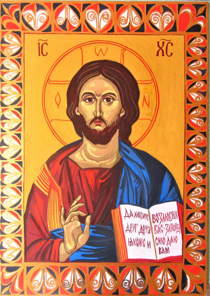 Jesus Christ Pantocrator by Konstantin Shushkov and Galina Todorova by Gallina Todorova