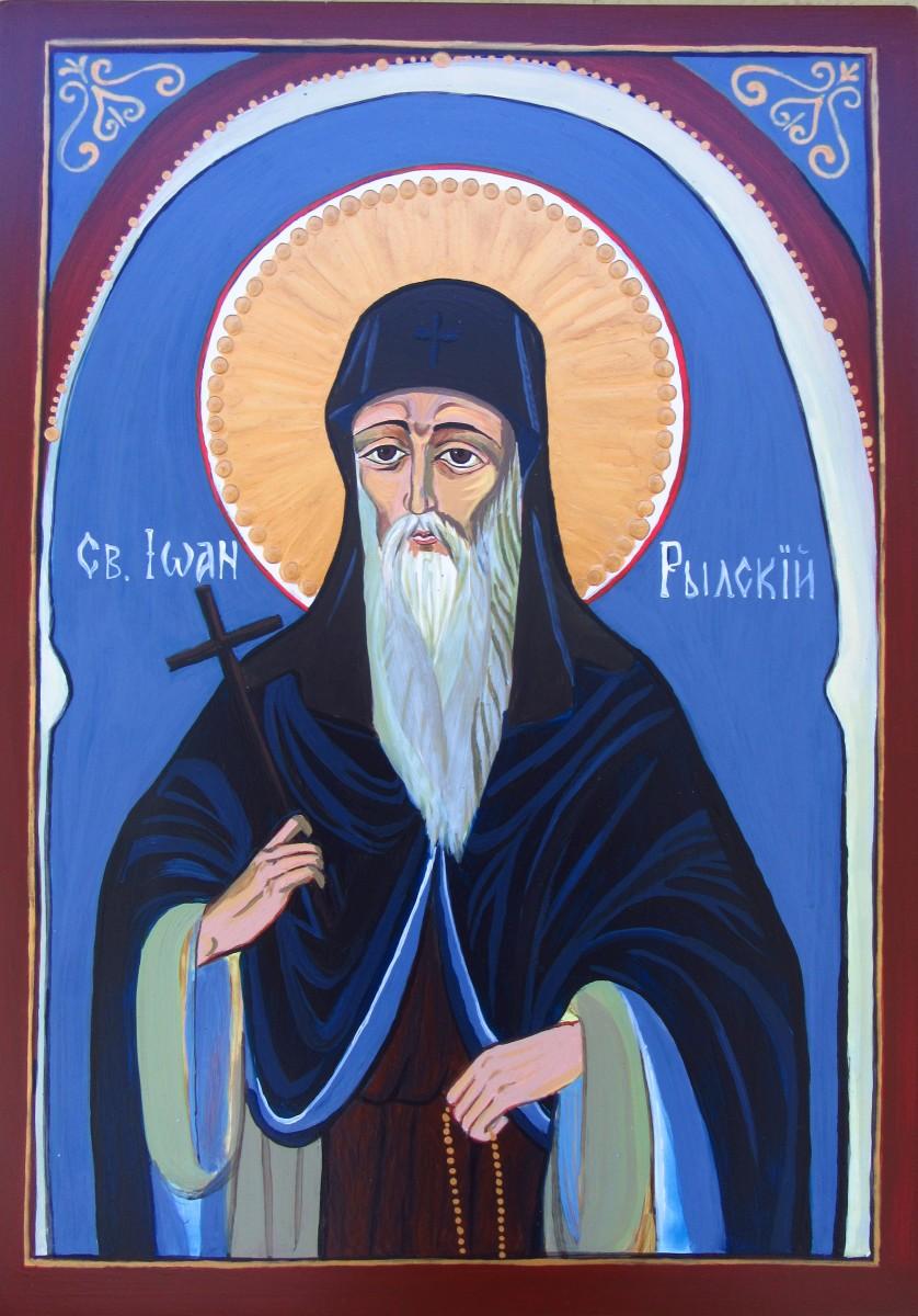 St John of Rila by Gallina Todorova