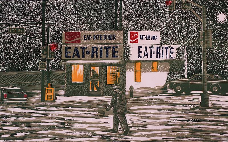 Snow at Eat Rite by Tony Lazorko