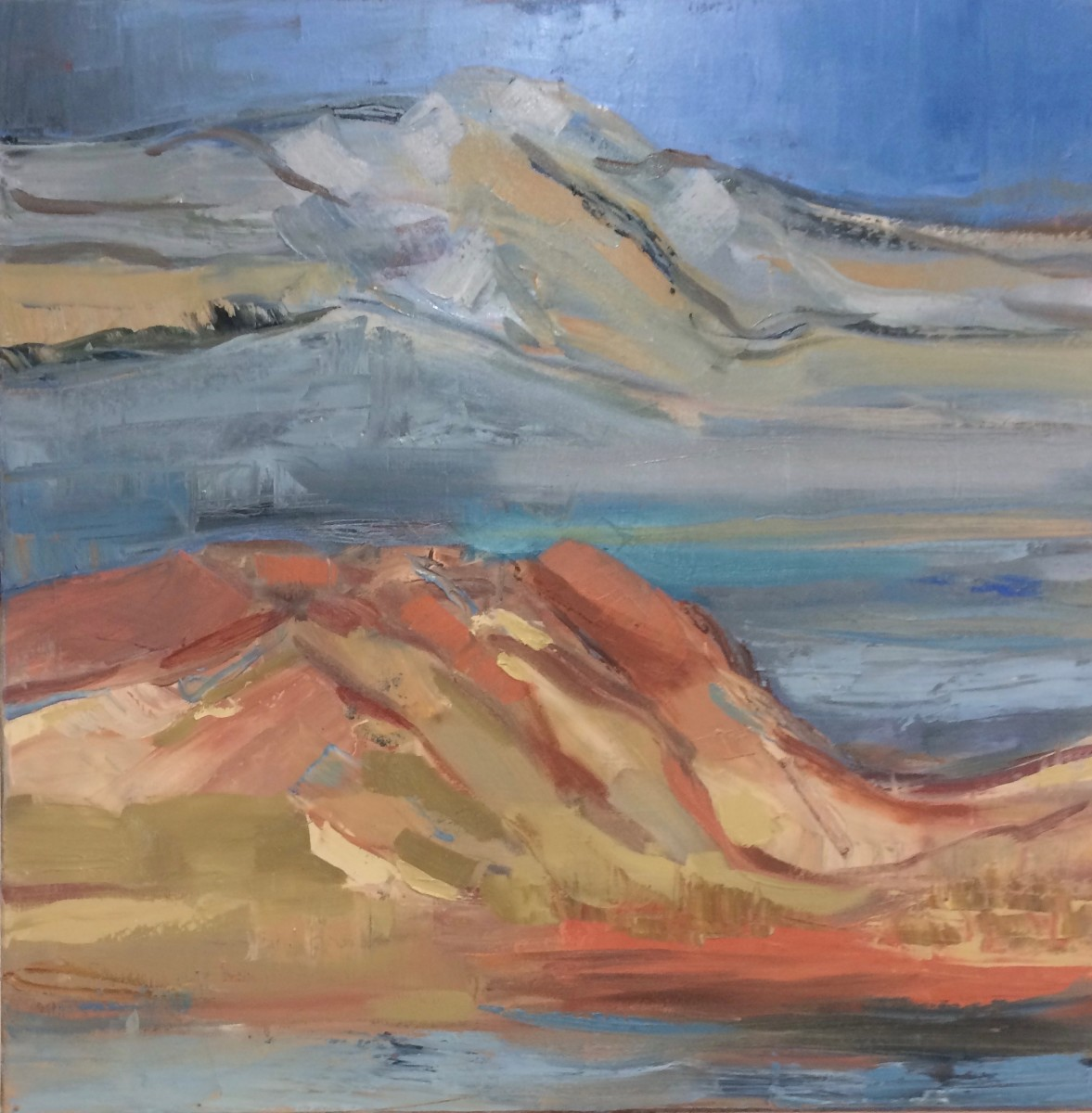 across the painted desert by barbara aroney artwork archive