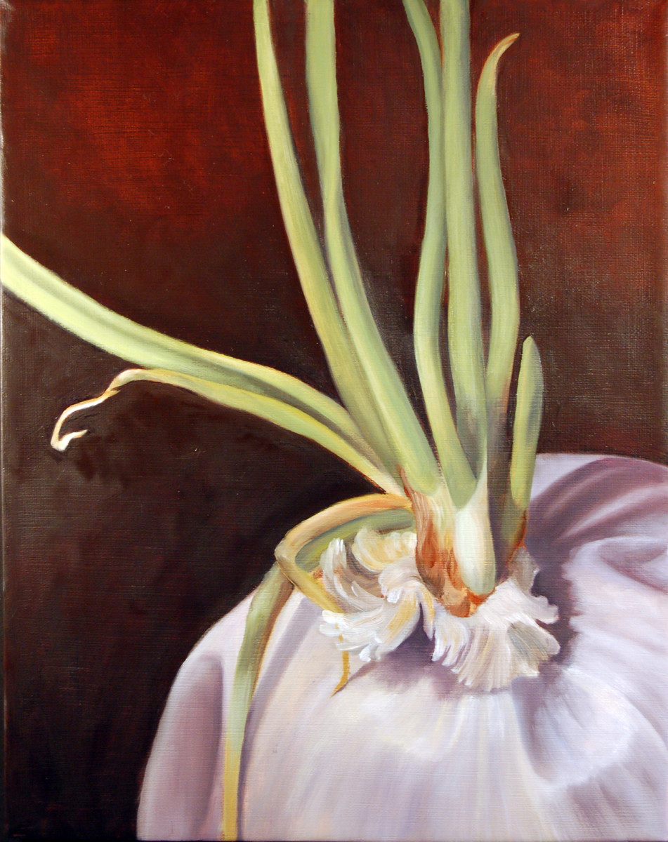 Ruminations on Mortality - Onion 3 by Kathleen Moore