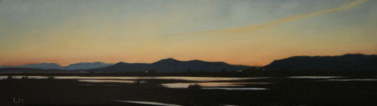 Padilla, looking west at dusk