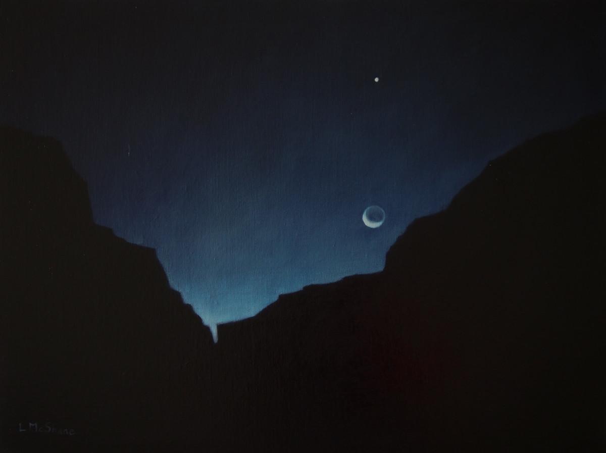Moonrise at the Canyon by Lisa McShane