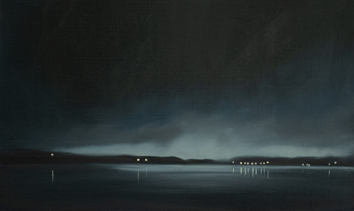Night over Samish Bay by Lisa McShane