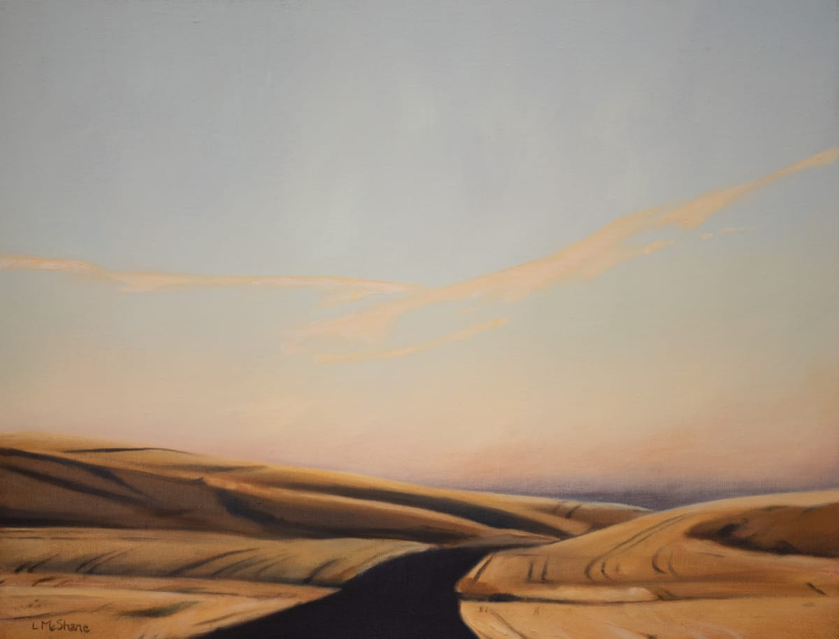 Palouse: Road through Wheat Fields above the Snake River by Lisa McShane