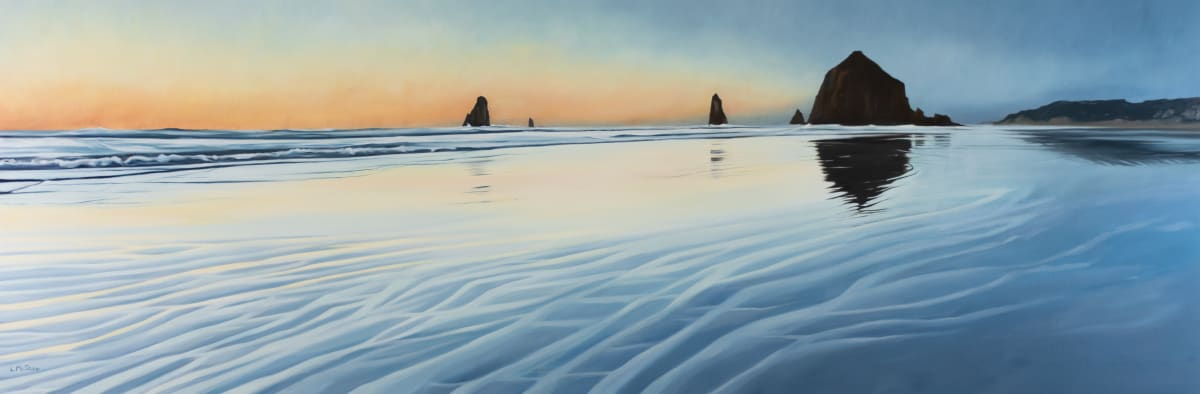 Cannon Beach at Sunset by Lisa McShane