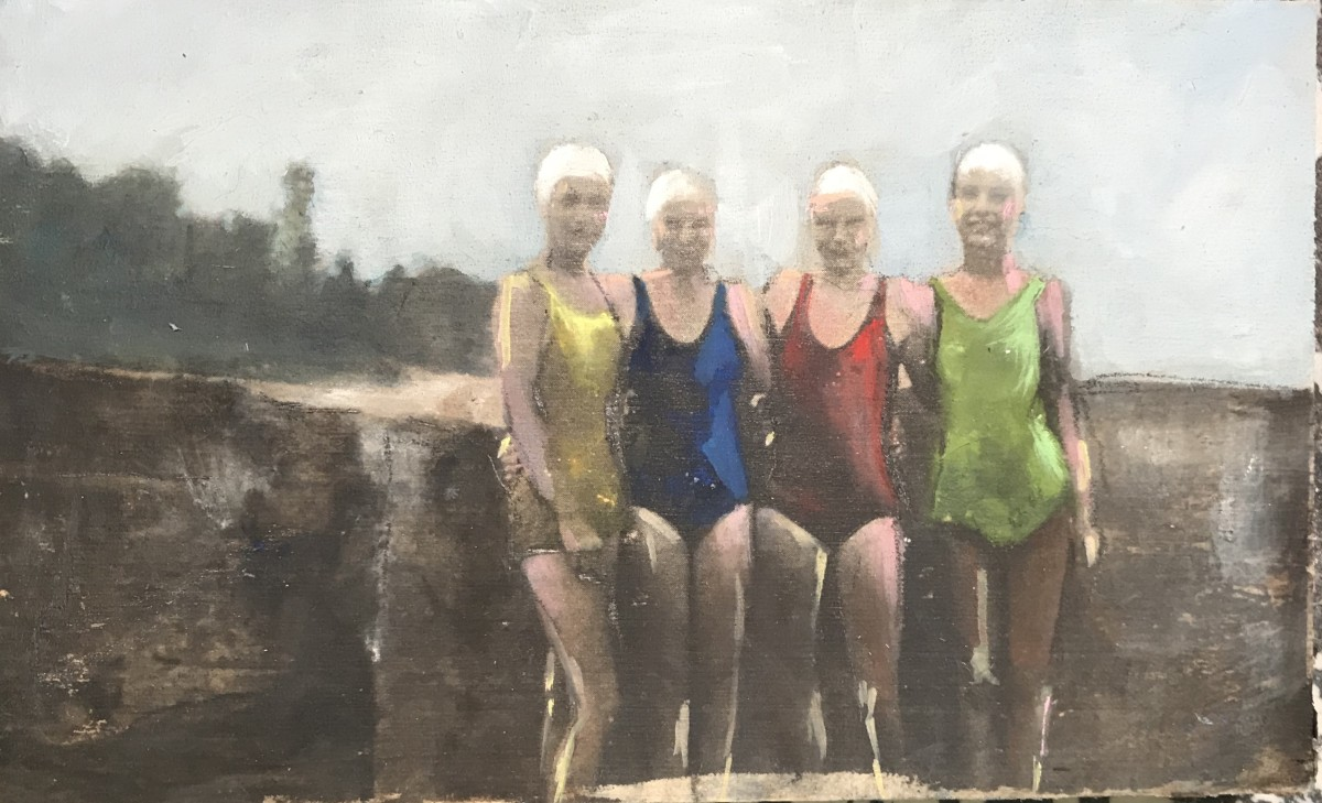 Near and Distant Shores: Four Swimmers by Krista Machovina