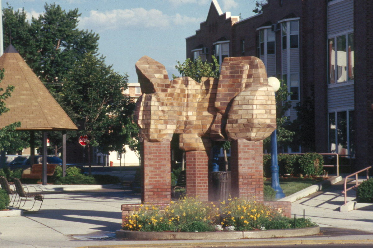 Brick Sculpture by Ken Williams