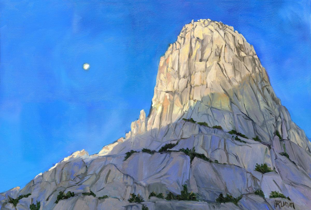 Moon Over Fin Dome (near Rae Lakes) by Faith Rumm