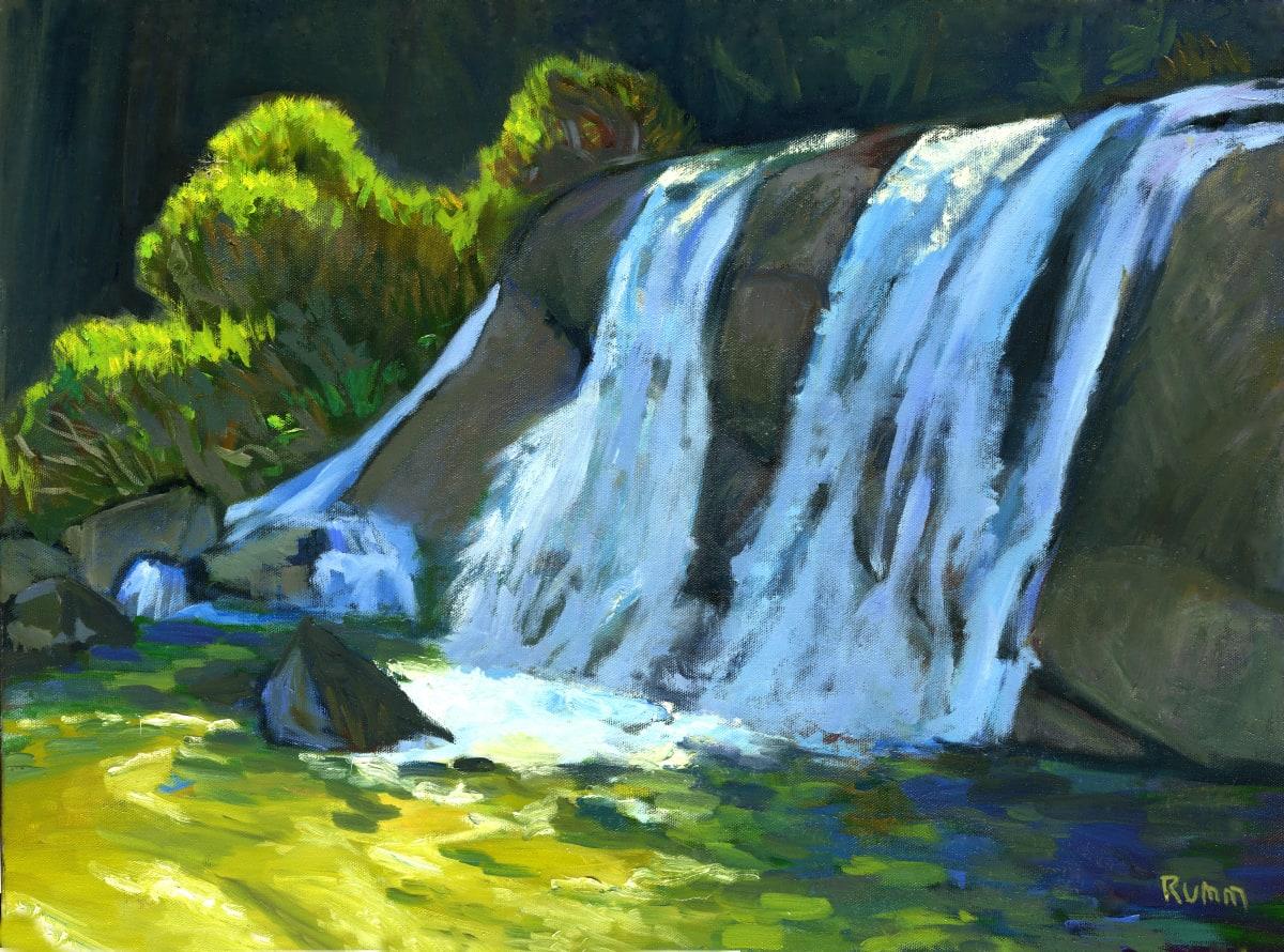 Hidden Waterfall (Rock Creek near Cottonwood) by Faith Rumm