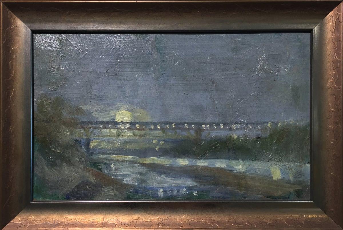 0222 - High Level Bridge From the Saskatchewan River by Llewellyn Petley-Jones (1908-1986)
