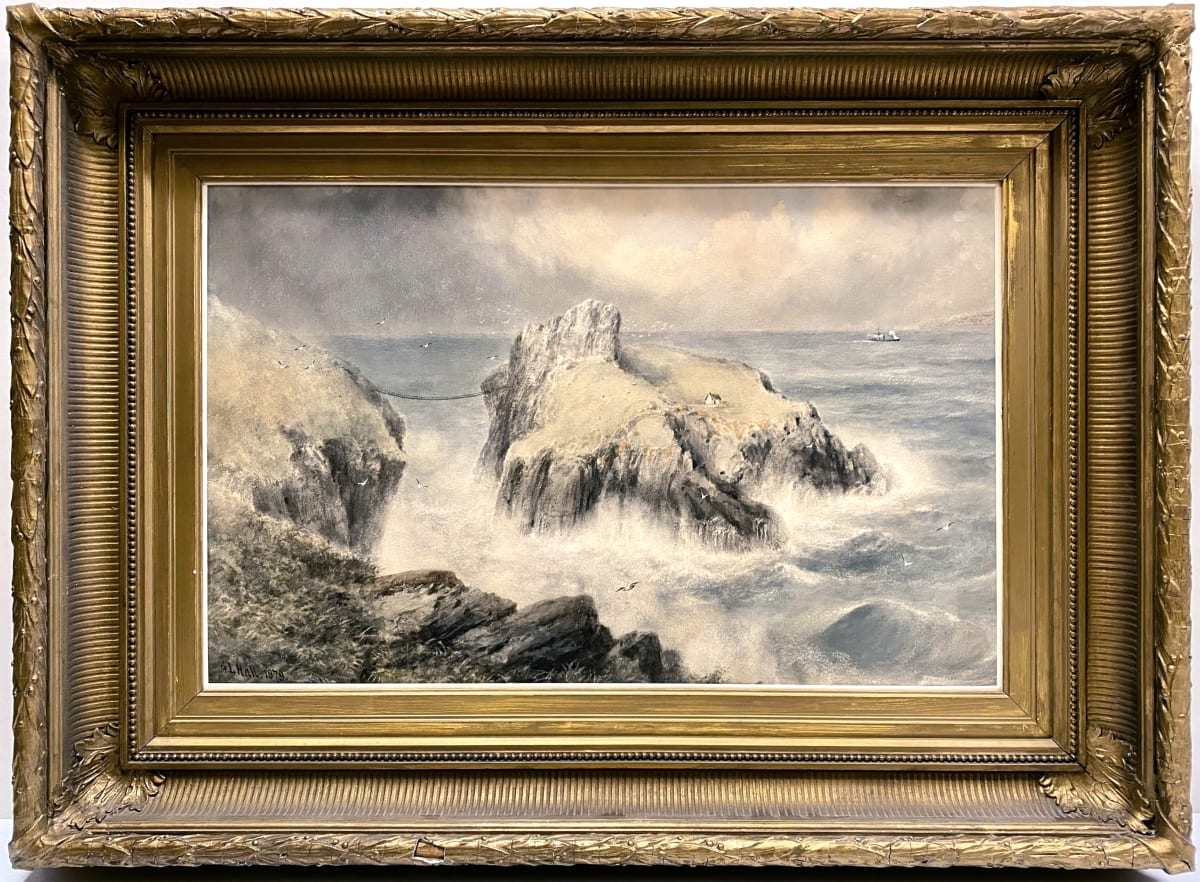 0699 - Wolf's Crag (East Coast of Scotland) by George Lowthian Hall (1825-1888)