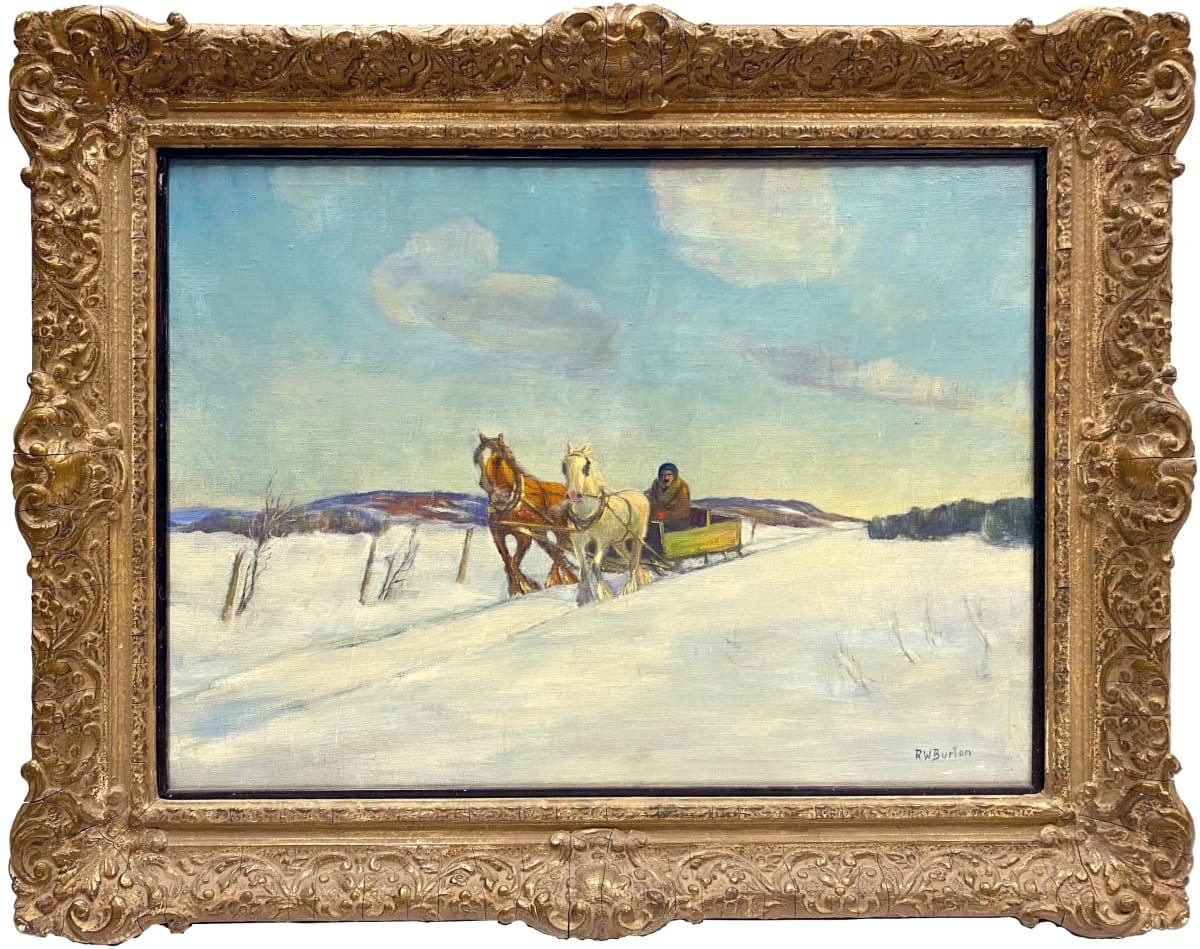 0962 - Two Horse Open-Sleigh by R. W. Burton