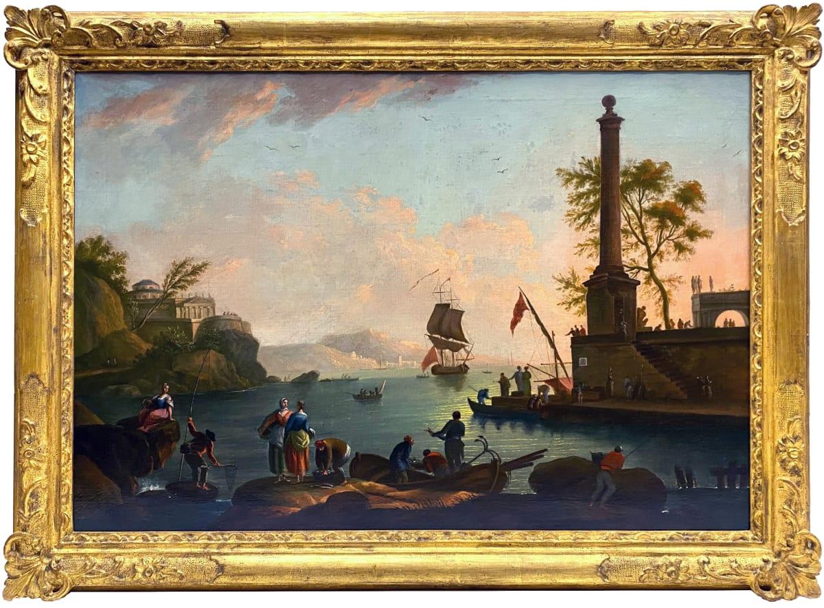 1002 - Mediterranean Harbour Scene by Claude Joseph Vernet (1714 - 1789)